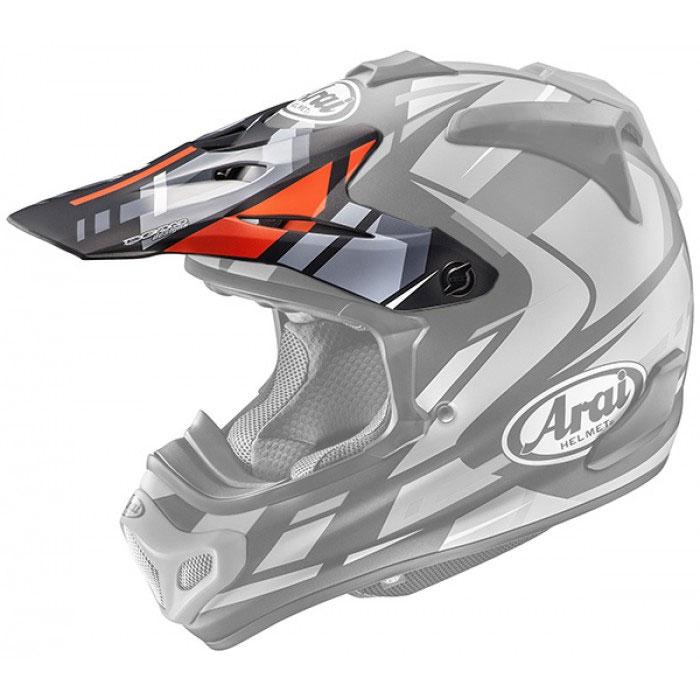Arai Mx-v Peak Bogle Red AR2645BR Helmets Accessories  d3c5fc300da87