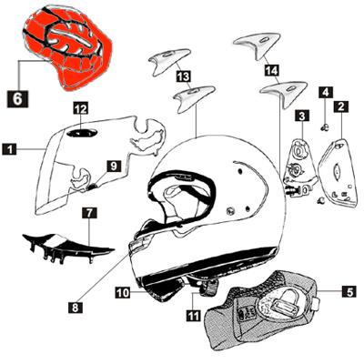 Arai Interior Pad - Astro R/viper Gt Type