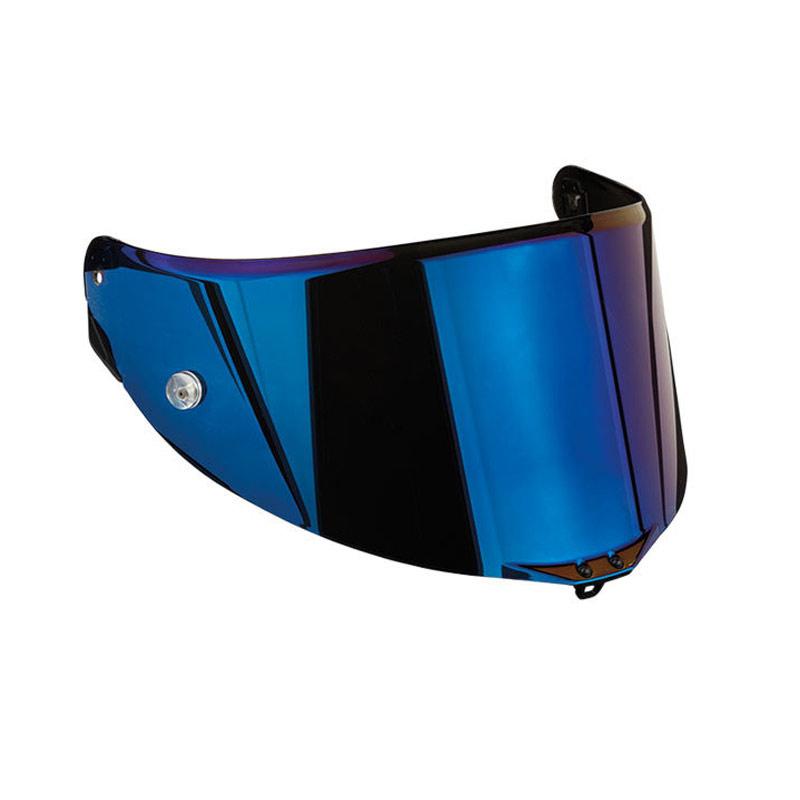Visor Race 2 Antiscratch Iridium Blue For Agv Helmets ...
