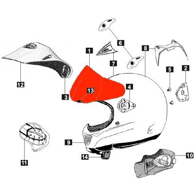 Lente arai tour x motostorm for Interno x4