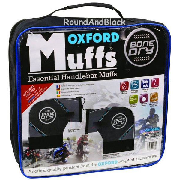 Oxford Pair Of Black Scootmuffs For Maxi Scooter