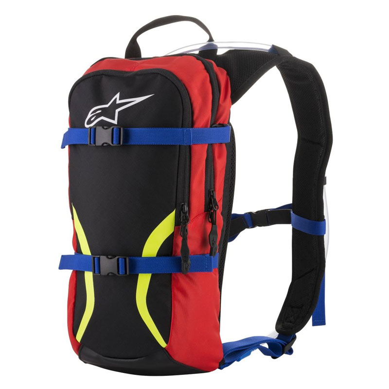 Alpinestars Iguana Hydration Backpack Blu Rosso Giallo