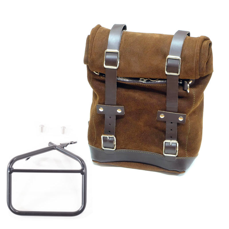 Unit Garage Side Bag brown + frame Ducati Scrambler