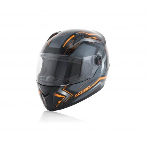 Acerbis Full Face Fs-807 Black Fluo Orange Helmet