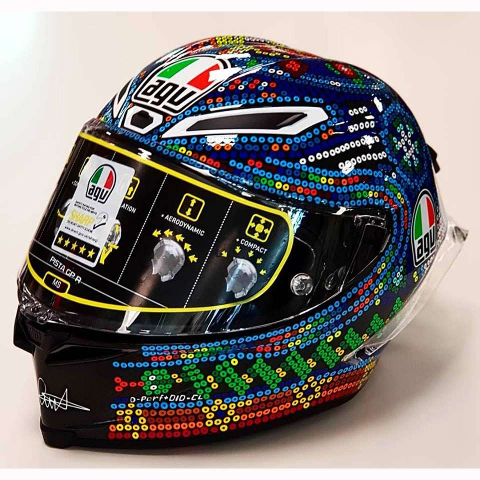 agv pista gp r rossi winter test 2018 6021a9hy 008 full face helmets motostorm. Black Bedroom Furniture Sets. Home Design Ideas