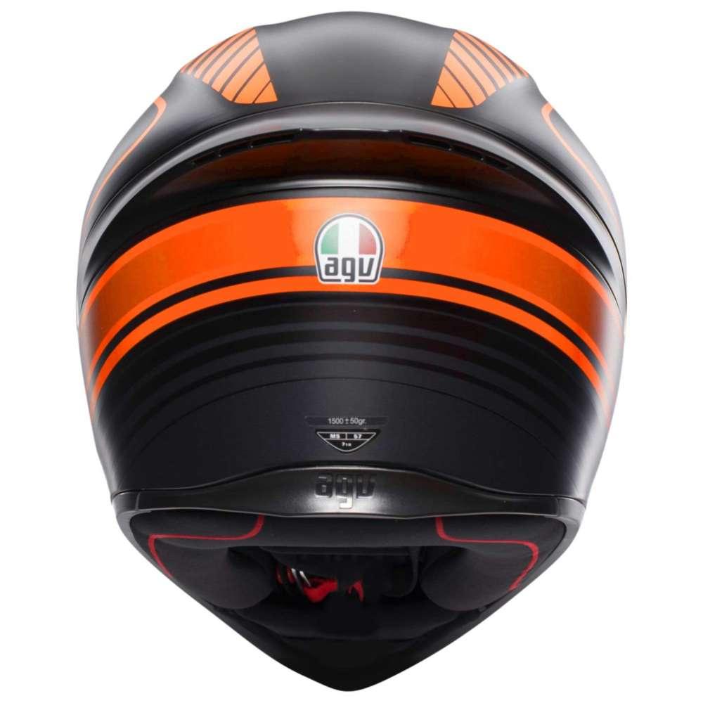 Agv K1 E2205 Warm Up Helmet Orange Black