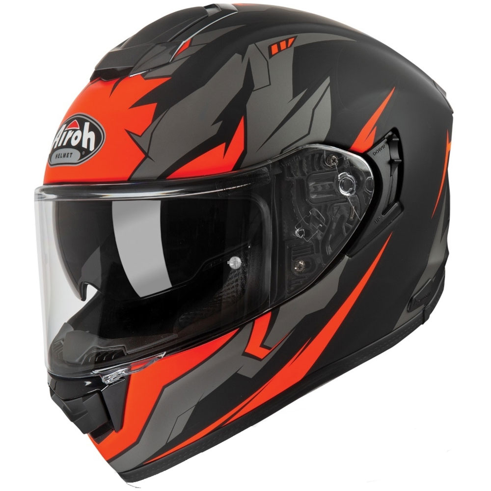Casque Moto Airoh St 501 Bionic Orange Casques Integraux St5b32