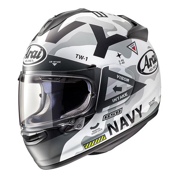 Arai Chaser-x Navy Bianco
