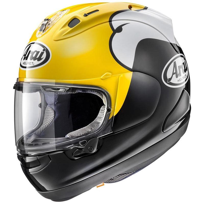 arai rx 7v kenny roberts yellow motostorm en. Black Bedroom Furniture Sets. Home Design Ideas
