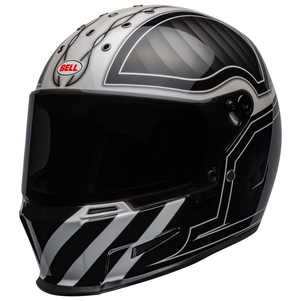 Bell Full Face Helmet >> Full Face Helmet Bell Eliminator Outlaw White Be 710060 Full Face