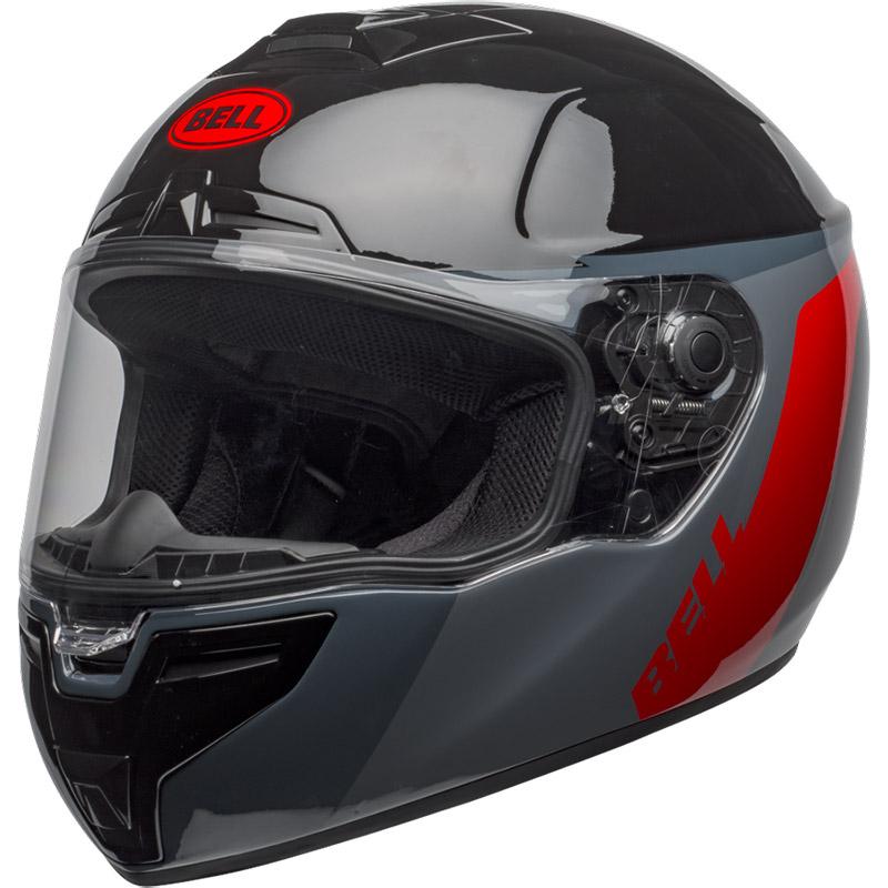 Bell SRT Razor Helm schwarz grau rot