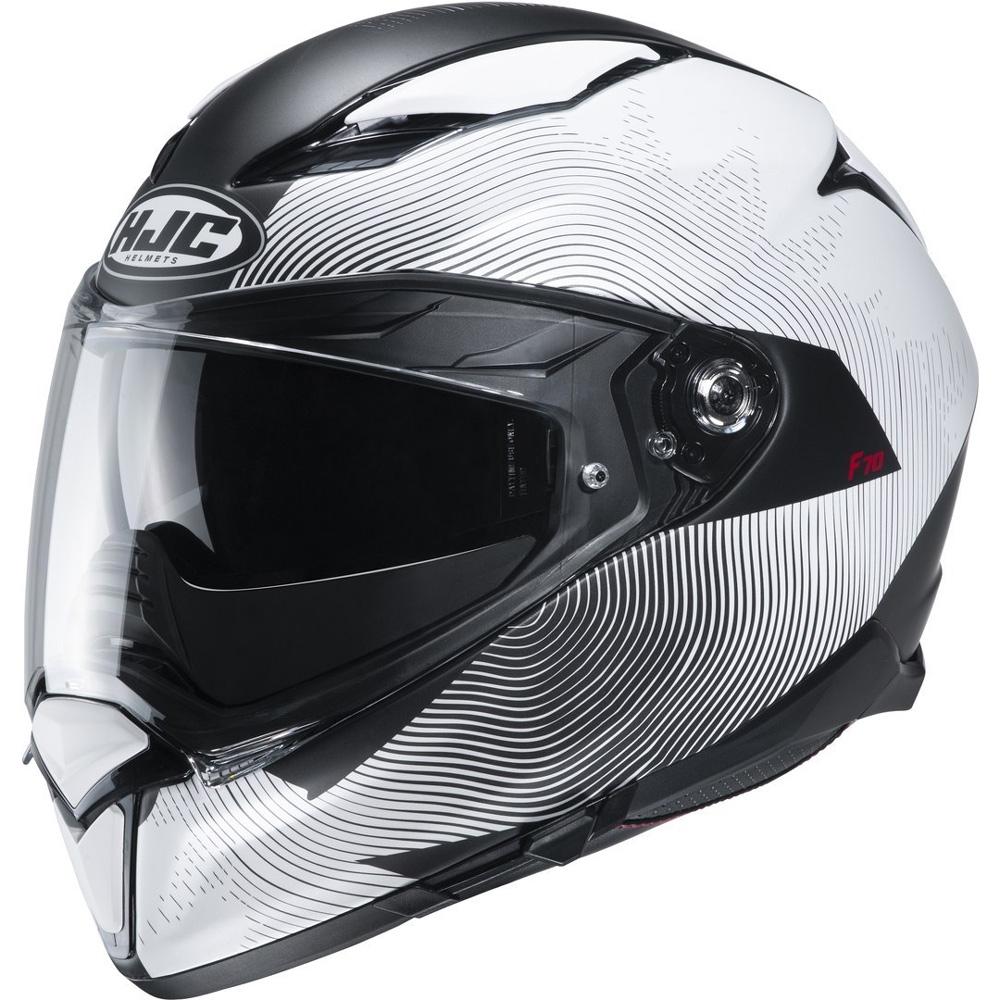 Casco moto HJC F70 Bianco Perla//PEARL WHITE Bianco XS