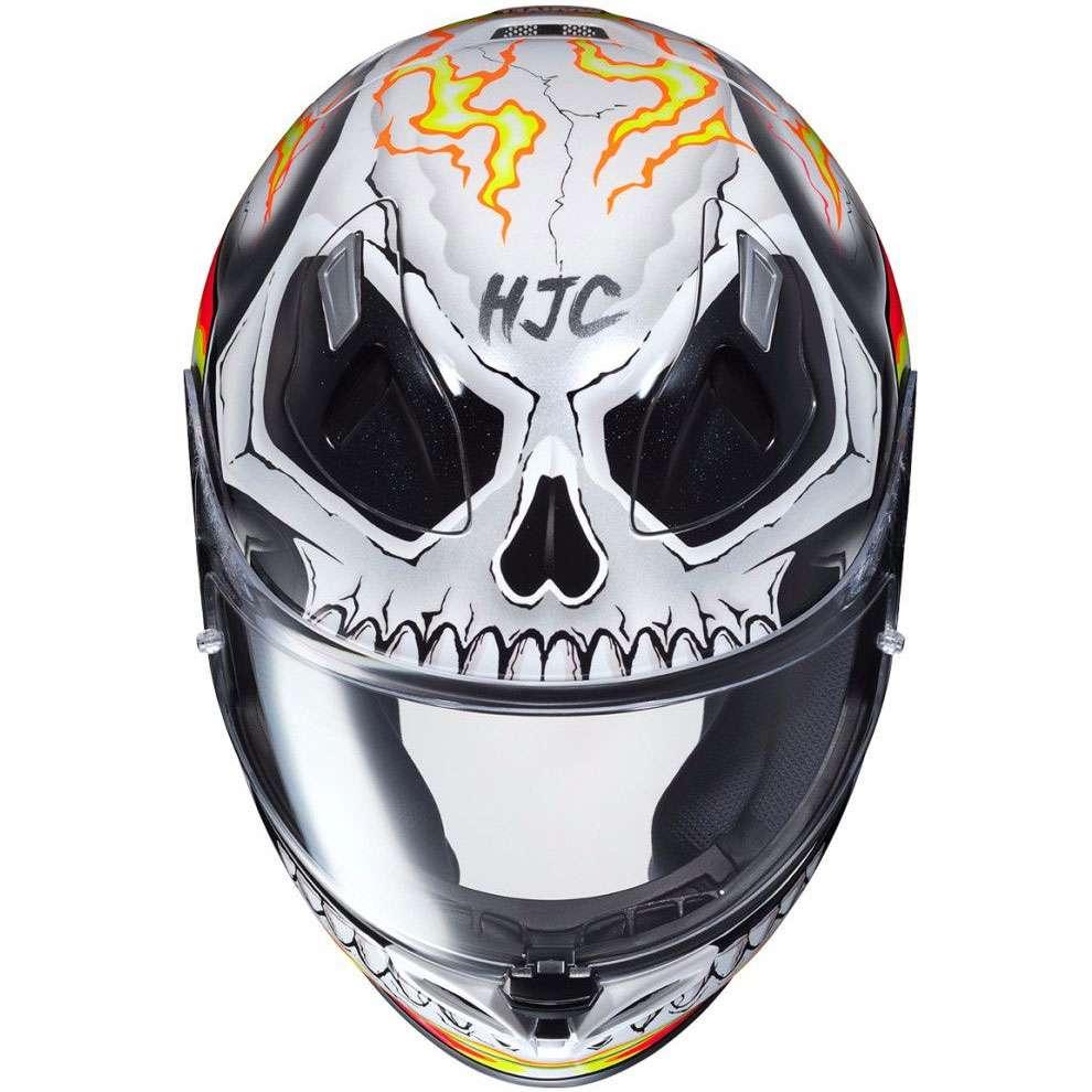 Xl , Rosso Casco Moto Hjc Marvel Fg-St Ghost Rider Rosso-Giallo