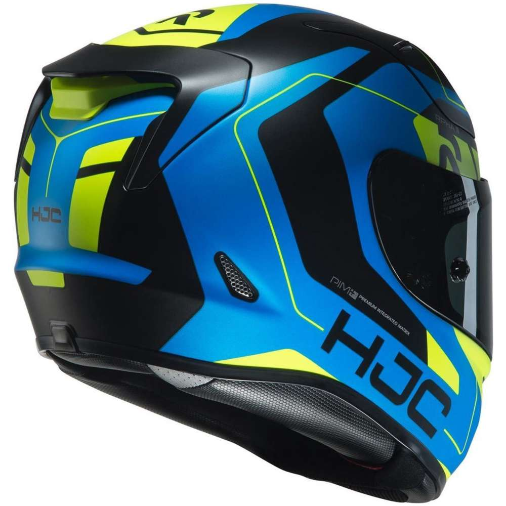 hjc rpha 11 chakri helmet blue yellow motostorm. Black Bedroom Furniture Sets. Home Design Ideas