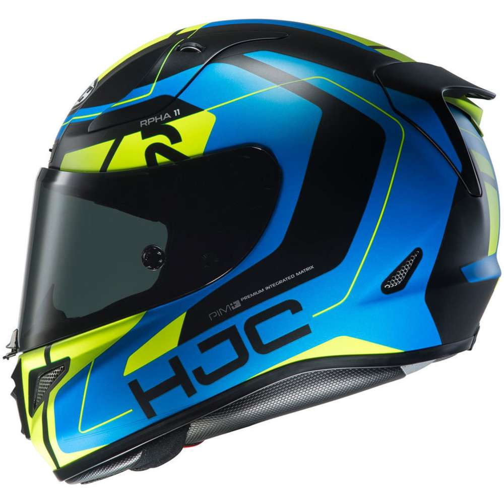 Hjc Rpha 11 Chakri Helmet Blue Yellow Hjc 135124 Mc24hsf