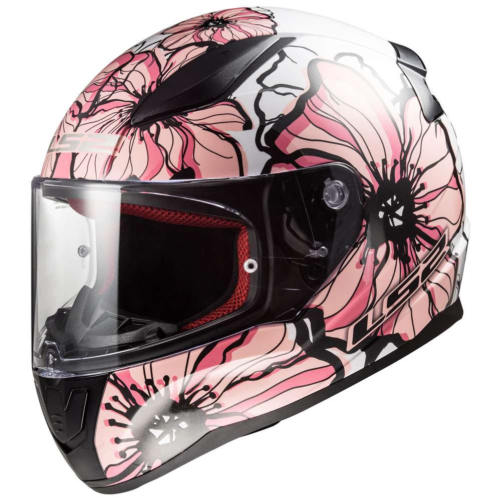 ls2 ff353 rapid poppies white pink ls2 103532014 full face helmets motostorm. Black Bedroom Furniture Sets. Home Design Ideas