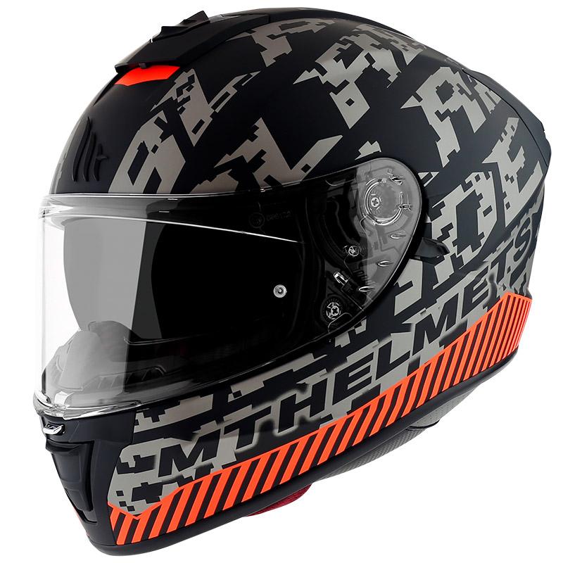 Casco Mt Helmets Blade 2 Sv Check B2 Grigio Opaco