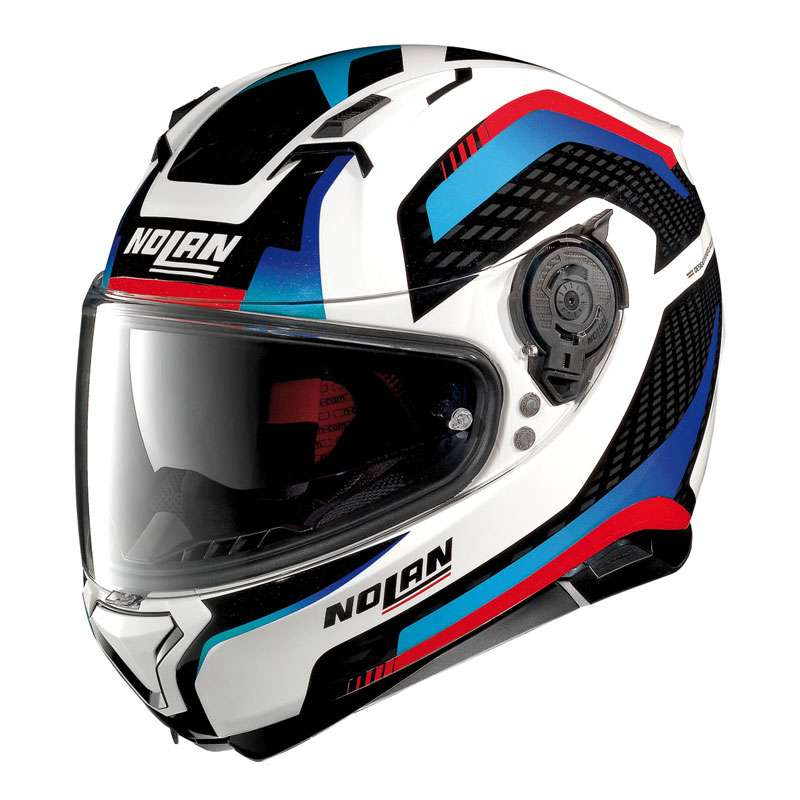 nolan n87 arkad n com blue red n87 arkad 40 full face helmets motostorm. Black Bedroom Furniture Sets. Home Design Ideas
