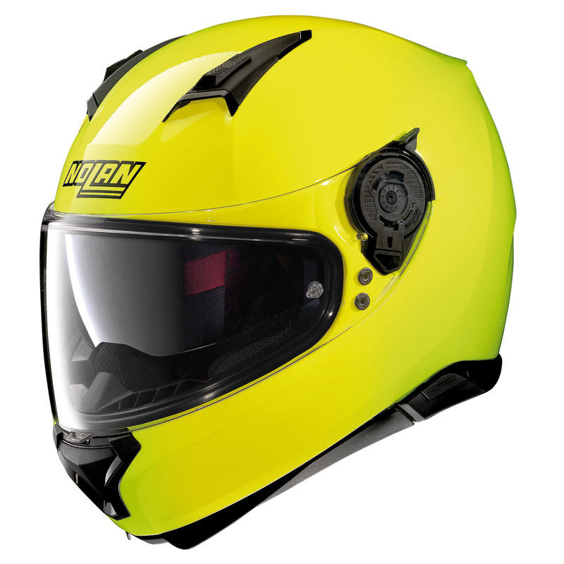 nolan n87 hi visibility n com fluo yellow n87 hivsb 42 full face helmets motostorm. Black Bedroom Furniture Sets. Home Design Ideas