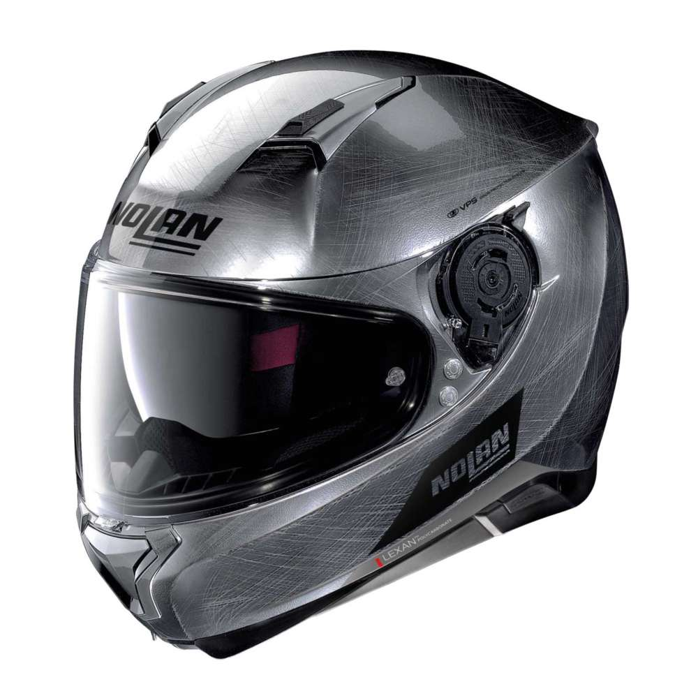 nolan n87 emblema n com full face helmet scratched chrome no n87 077 full face helmets motostorm. Black Bedroom Furniture Sets. Home Design Ideas