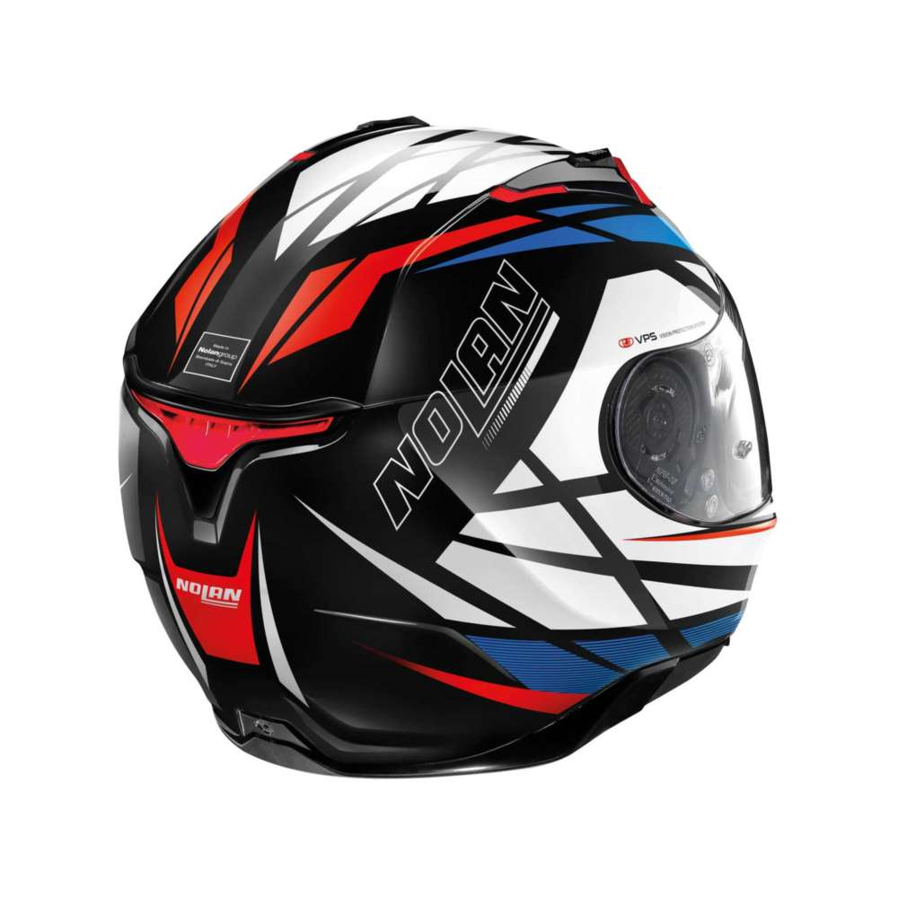 nolan n87 originality n com full face helmet white red blue no n87 064 full face helmets motostorm. Black Bedroom Furniture Sets. Home Design Ideas