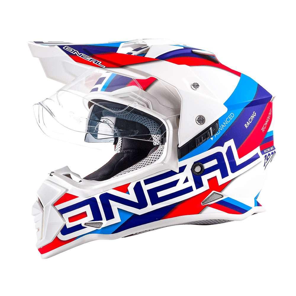 O'Neal Sierra II Circuit Helm weiß blau