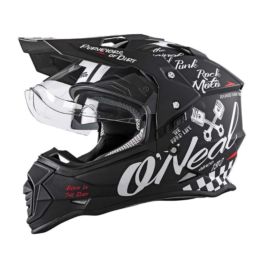 O'Neal Sierra II Torment Helm schwarz weiß