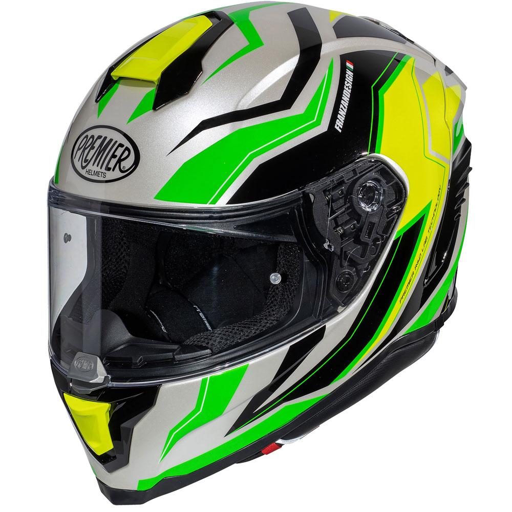 Premier Hyper Rw 6 Helmet Green Yellow