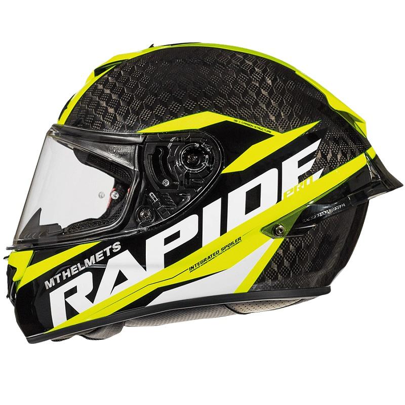 Mt Helmets Rapide Pro Carbon C4 Kind schwarz gelb