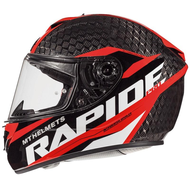 Mt Helmets Rapide Pro Carbon C5 Kind schwarz rot