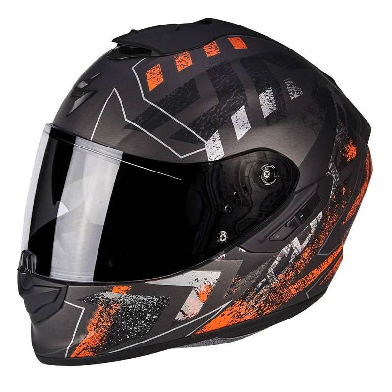 Scorpion Exo-1400 Air picta Matt Silber Orange