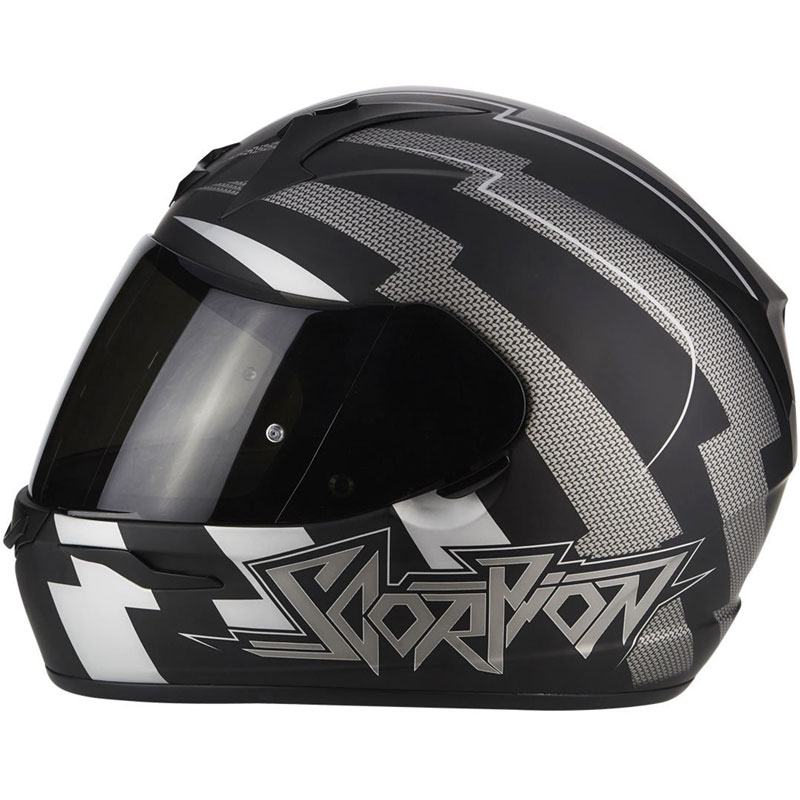 bd9c301f Scorpion Exo-390 Patriot Matt Black Silver 39-017-159 Full Face ...