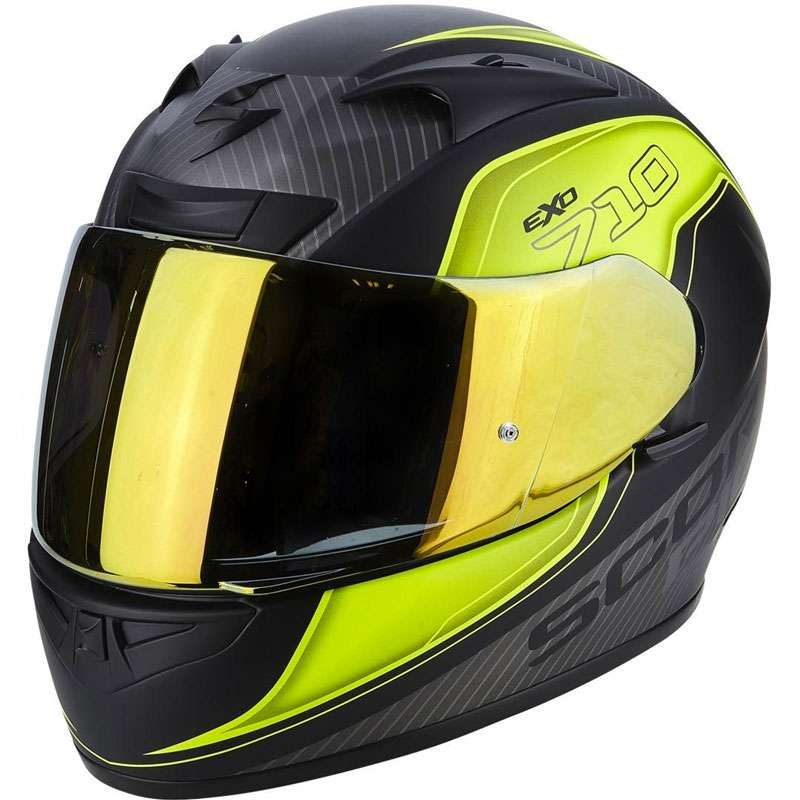 d6ef4d2b Scorpion Exo-710 Air Mugello Fluo Yellow 71-243-199 Full Face ...