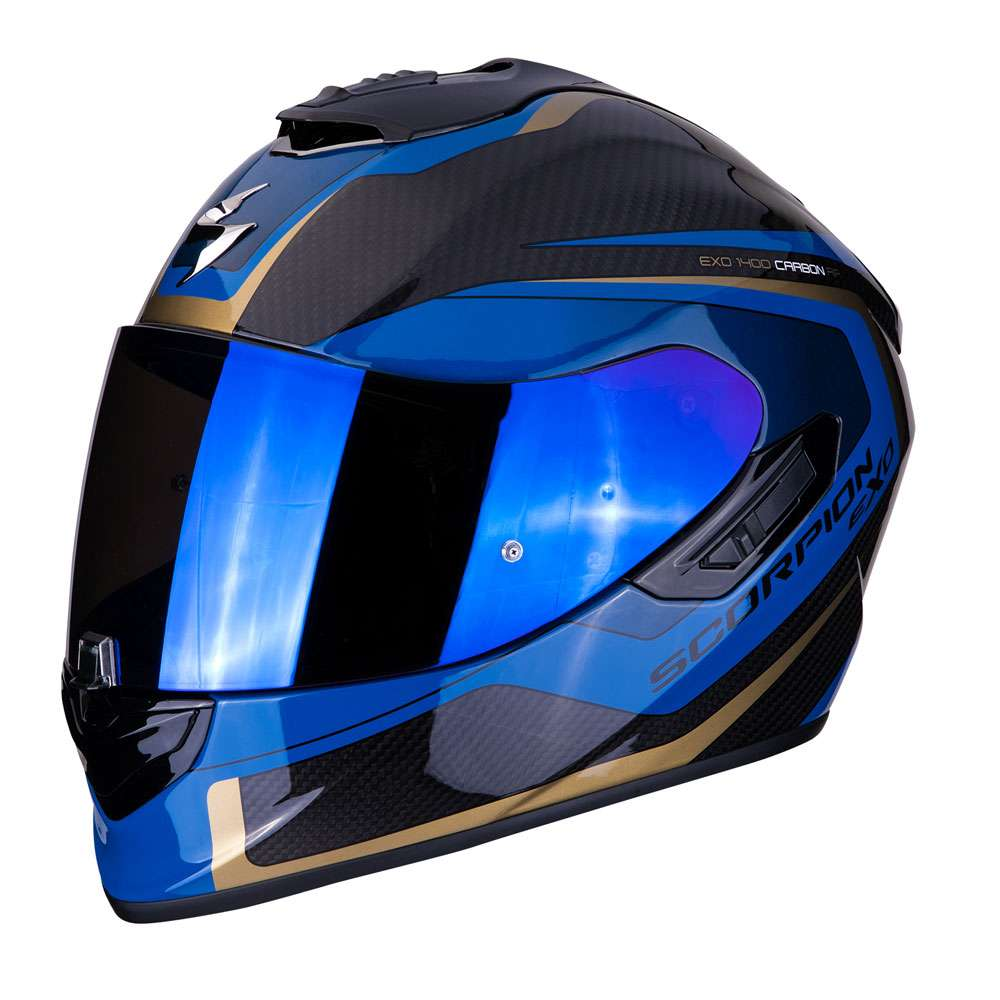 full face helmet scorpion exo 1400 air carbon esprit blue 14 276 66 full face helmets motostorm. Black Bedroom Furniture Sets. Home Design Ideas