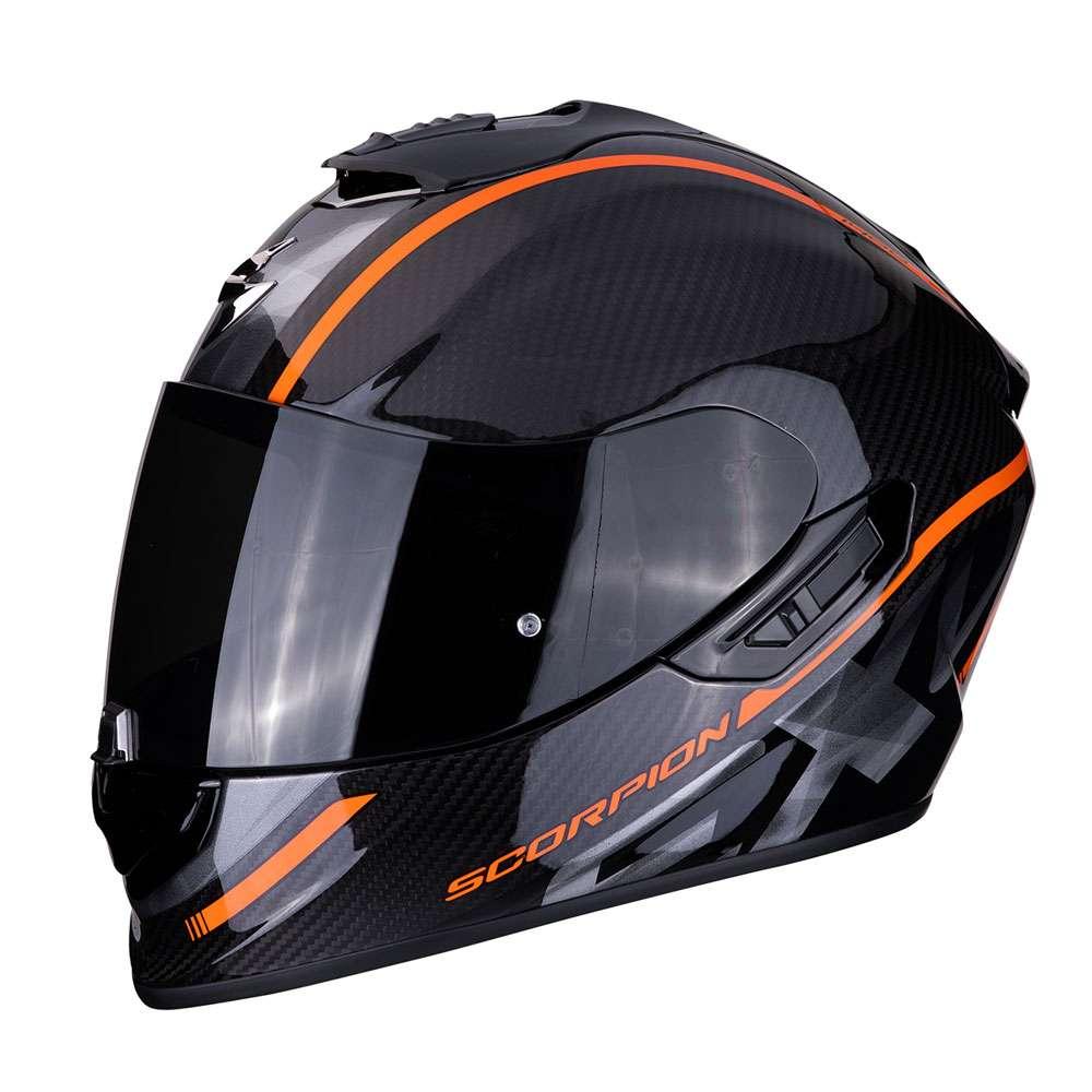 casco moto scorpion exo 1400 air carbon grand arancio 14. Black Bedroom Furniture Sets. Home Design Ideas