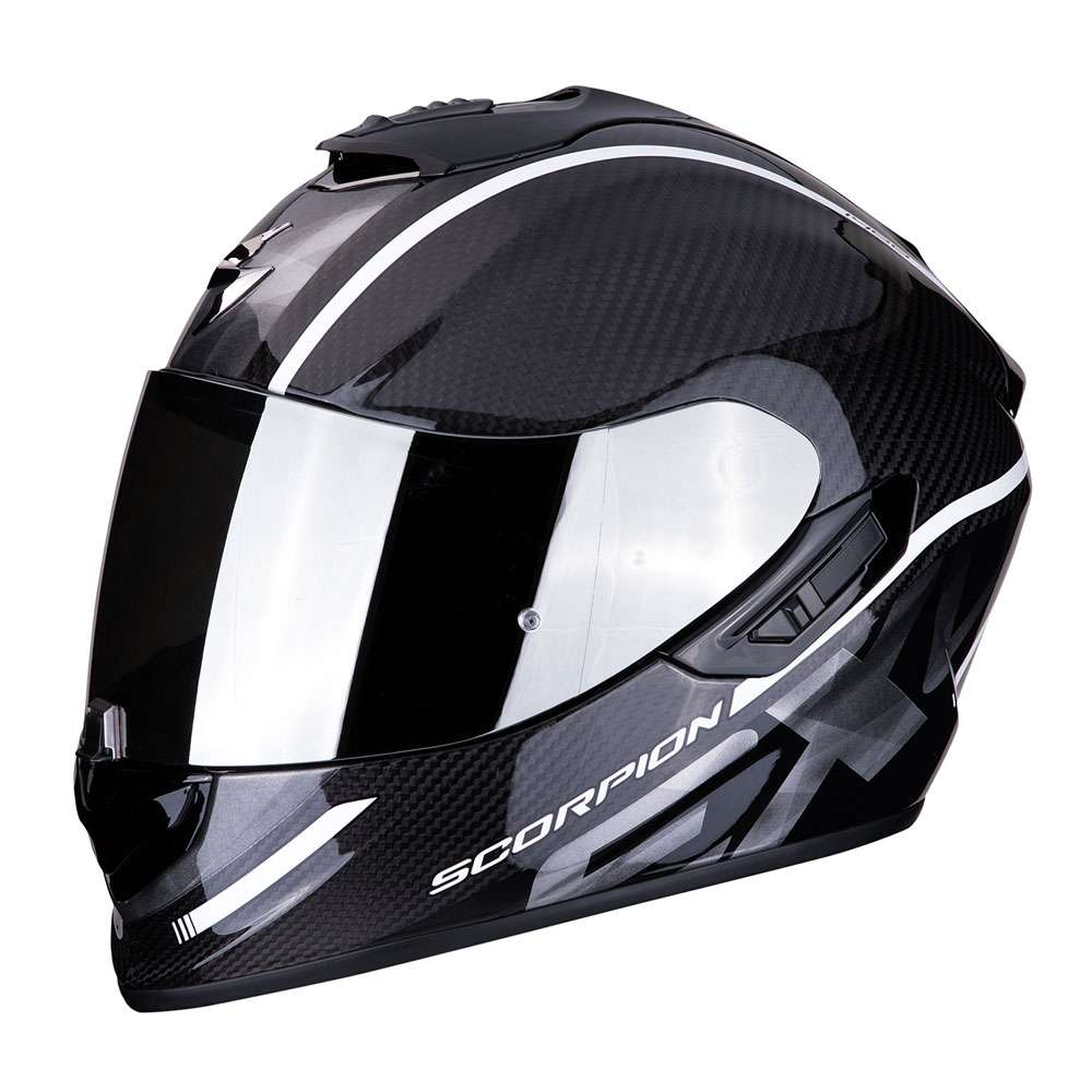 casco moto scorpion exo 1400 air carbon grand bianco motostorm. Black Bedroom Furniture Sets. Home Design Ideas