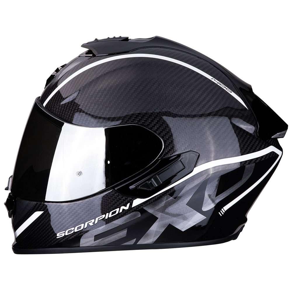 Casco Moto Scorpion Exo 1400 Air Carbon Grand Bianco