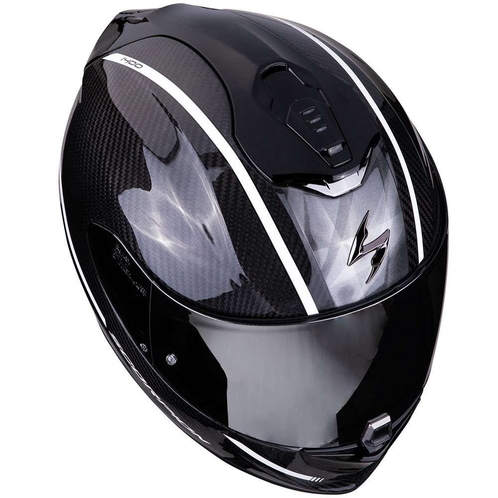 full face helmet scorpion exo 1400 air carbon grand white. Black Bedroom Furniture Sets. Home Design Ideas