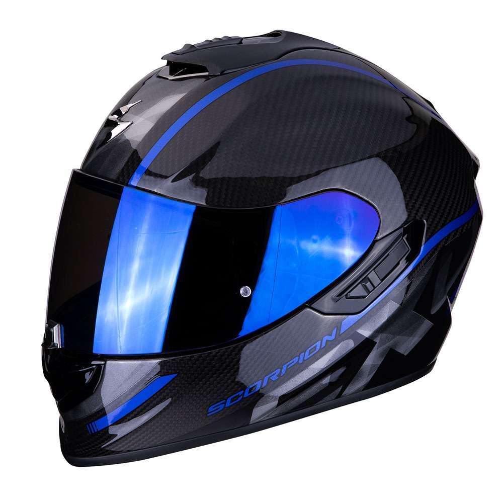 full face helmet scorpion exo 1400 air carbon grand blue. Black Bedroom Furniture Sets. Home Design Ideas