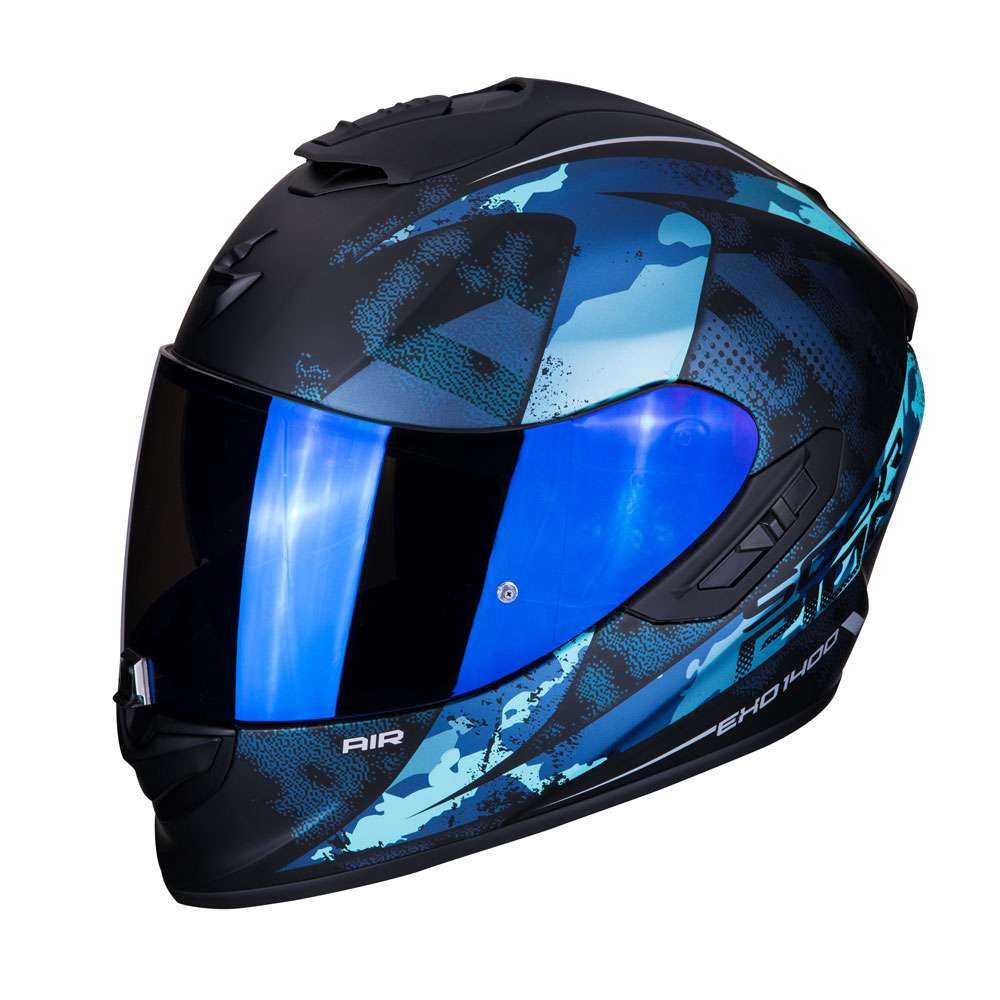 Casco Integrale Scorpion Exo 1400 Air Sylex Blu Opaco