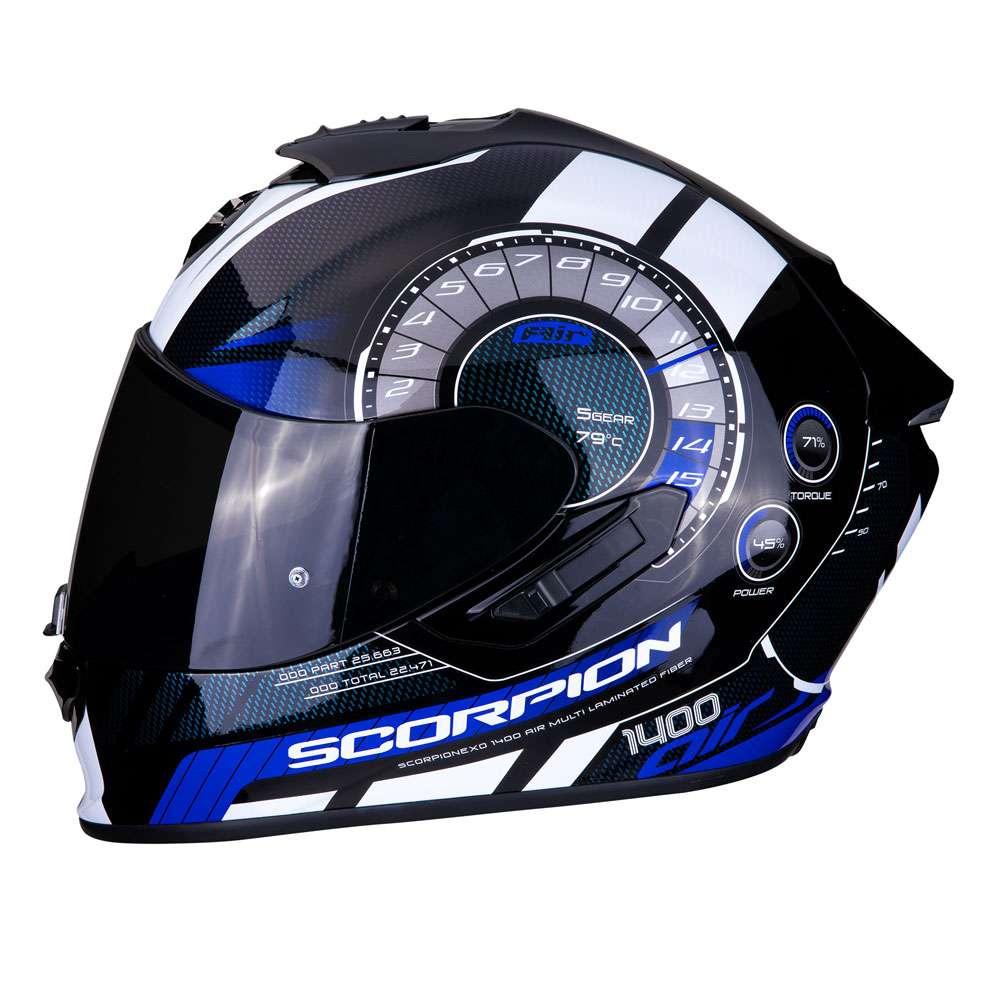 casco integrale scorpion exo 1400 air torque blu 14 278 02. Black Bedroom Furniture Sets. Home Design Ideas