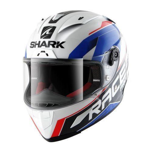 b137039c1be32 Shark Race-r Pro Sauer White-blue-red HE8647EWBR Full Face Helmets ...