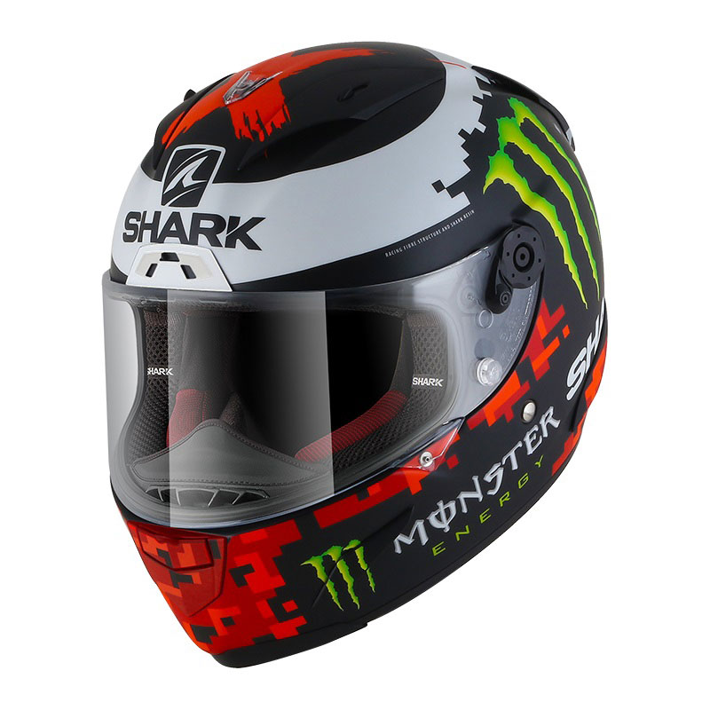 Shark Race-R Lorenzo Monster Matt 2018 schwarz rot