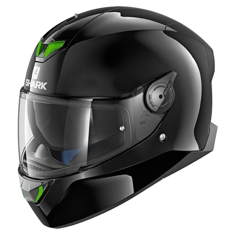 shark skwal 2 blank black he4901eblk full face helmets. Black Bedroom Furniture Sets. Home Design Ideas