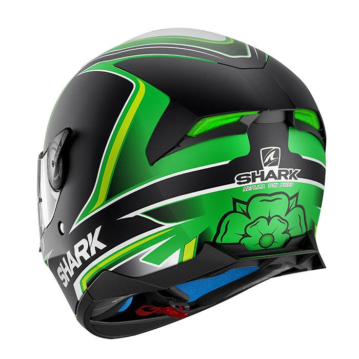 11264aed Shark Skwal 2 Sykes Helmet Matt Black Green HE4909EKGW Full Face ...