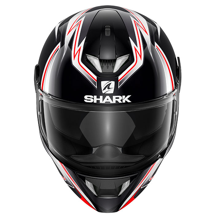 Casque Shark Skwal 2 Sykes Noir Blanc Anthra Casques Integraux