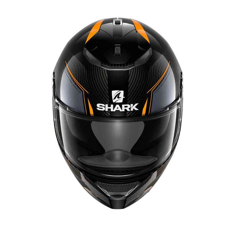 shark spartan carbon silicium orange motostorm. Black Bedroom Furniture Sets. Home Design Ideas