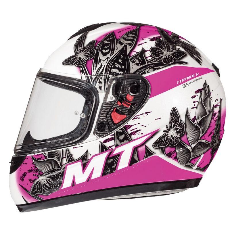 Mt Helmets Thunder Breeze D8 Kind rosa weiss
