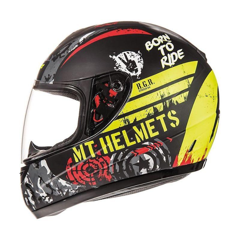 Mt Helmets Thunder Sniper Kind matt-schwarz gelb