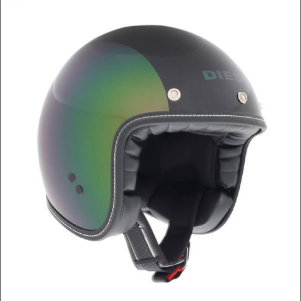 ... Jet Helmets Plastic Agv Old-jack Diesel E2205 Multi - Pearl Green